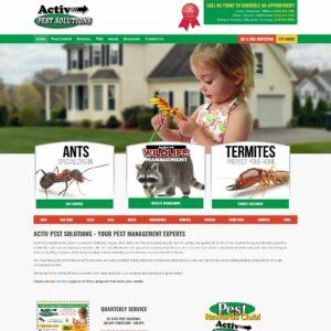Activ Pest Solutions website
