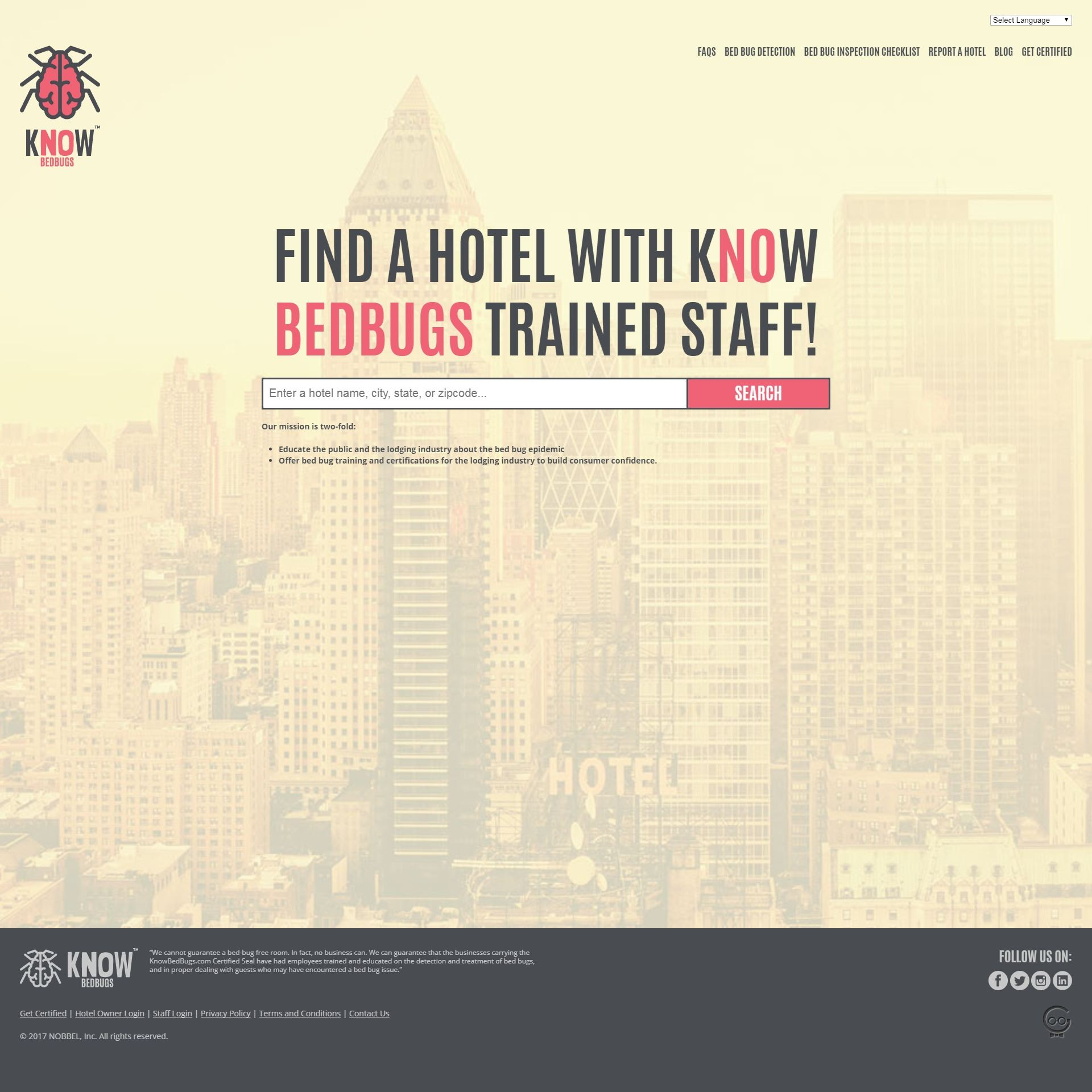Know Bed Bugs website