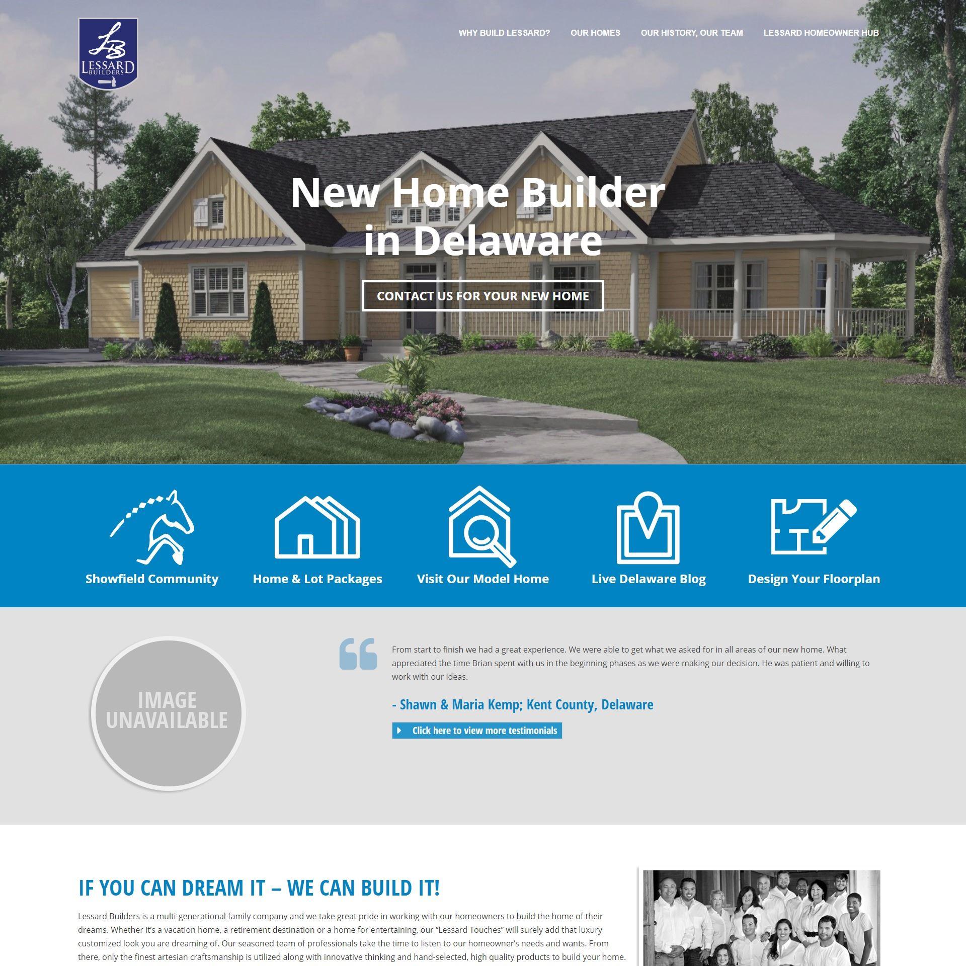 Lessard Builders website