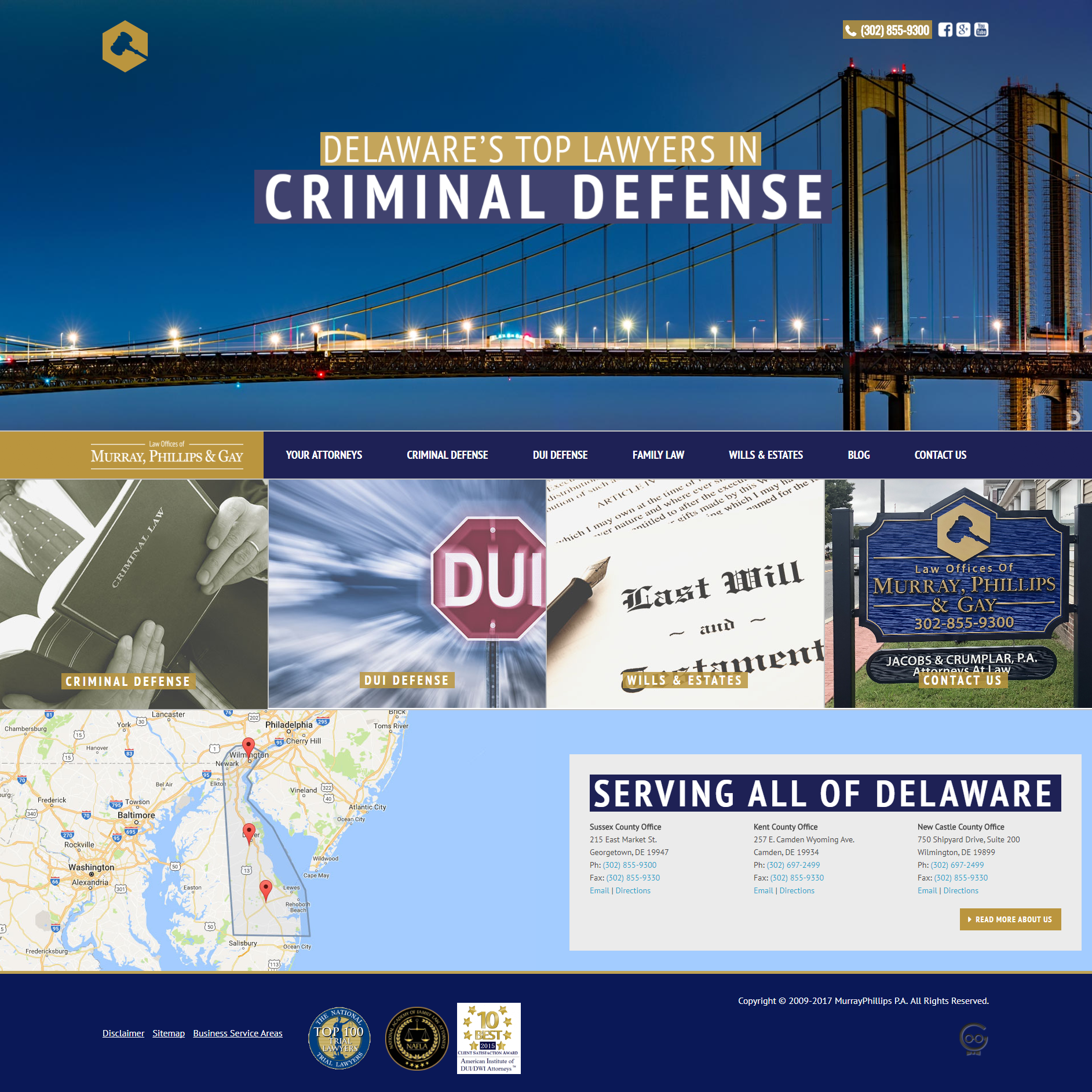 Law Offices of Murray, Phillips & Gay website