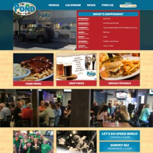 The Pond Bar and Grill website