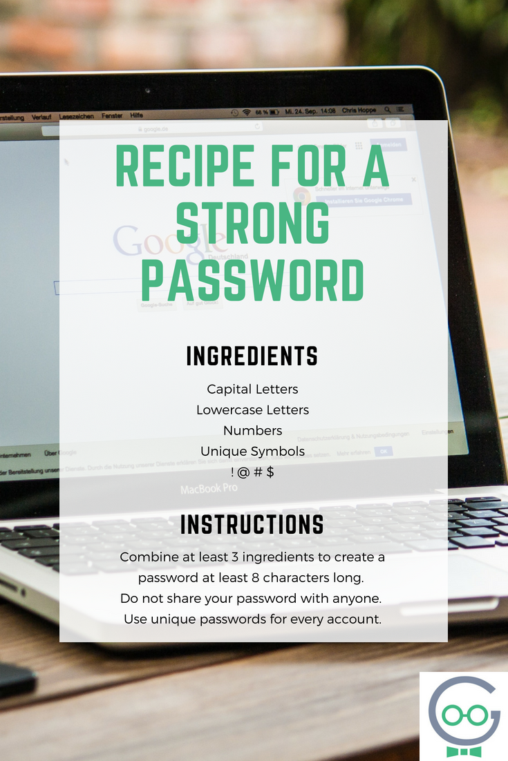 Recipe for A Strong Password