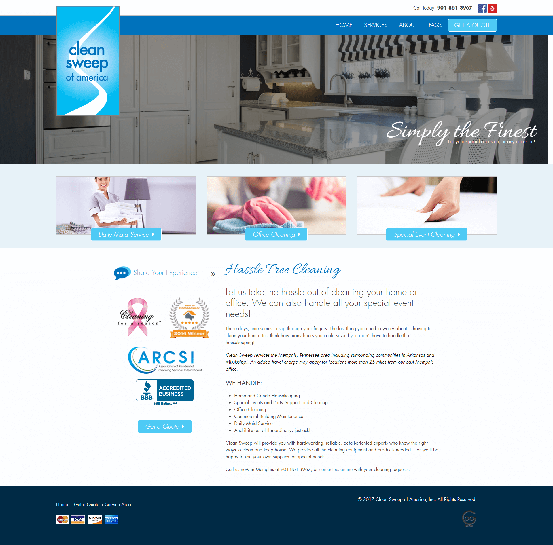 Clean Sweep home page