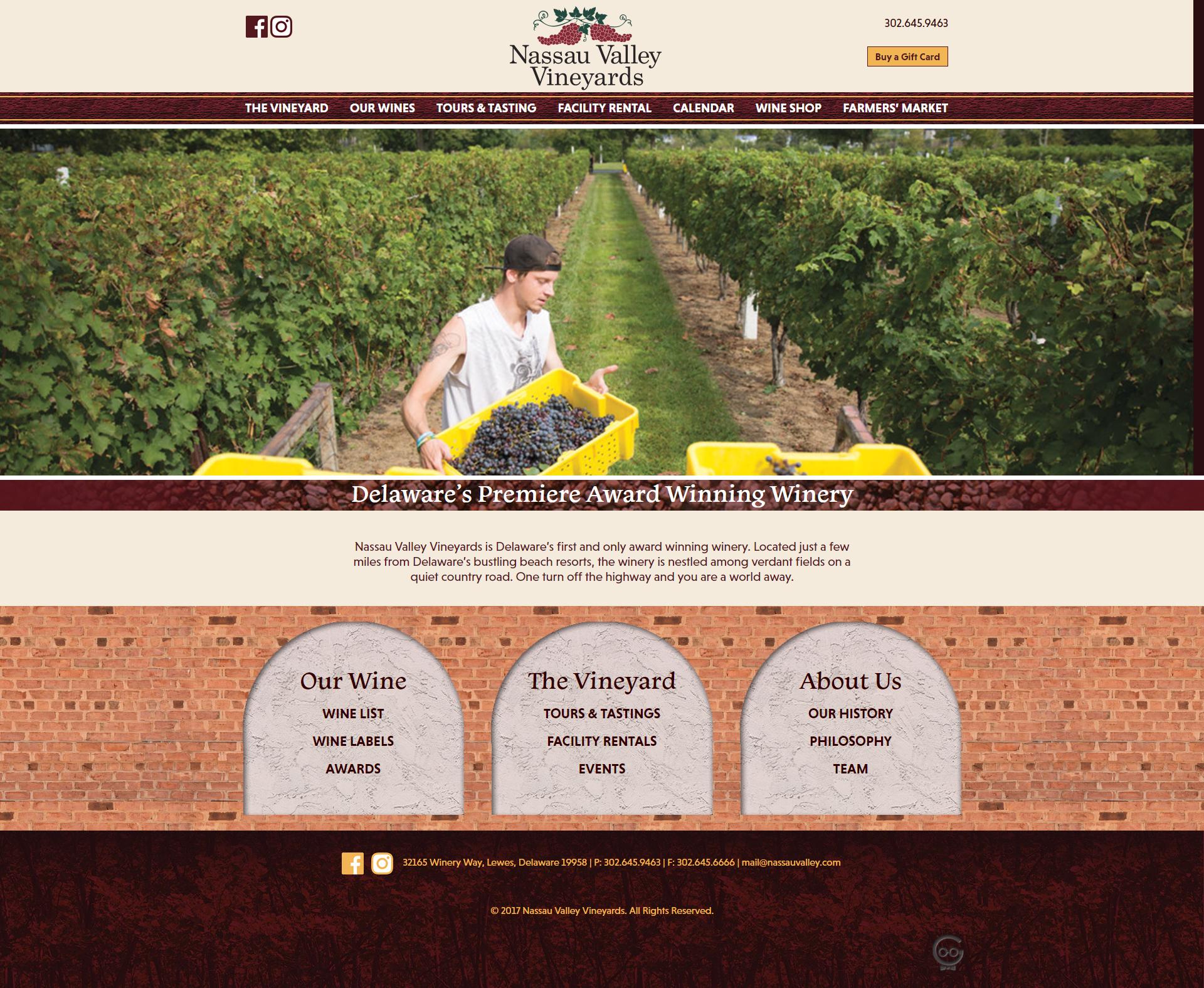 Nassau Valley Vineyards home
