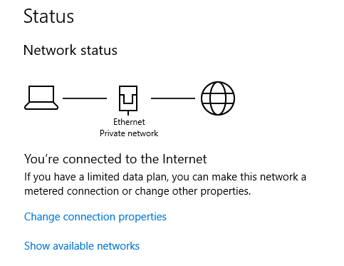 check your network status