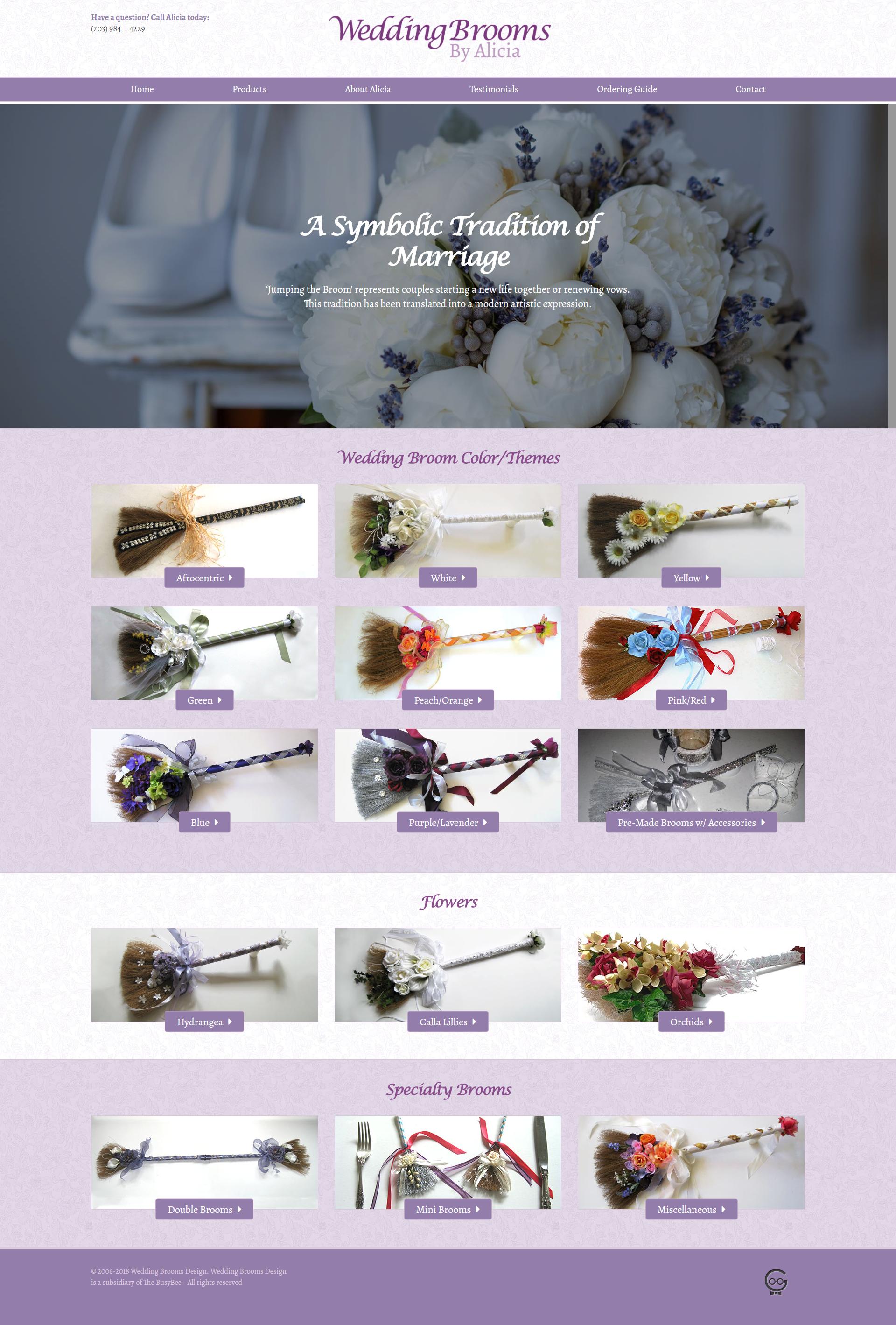 Wedding Brooms By Alicia