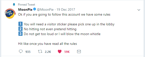MoonPie pinned tweet
