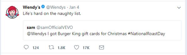 Wendy's tweet