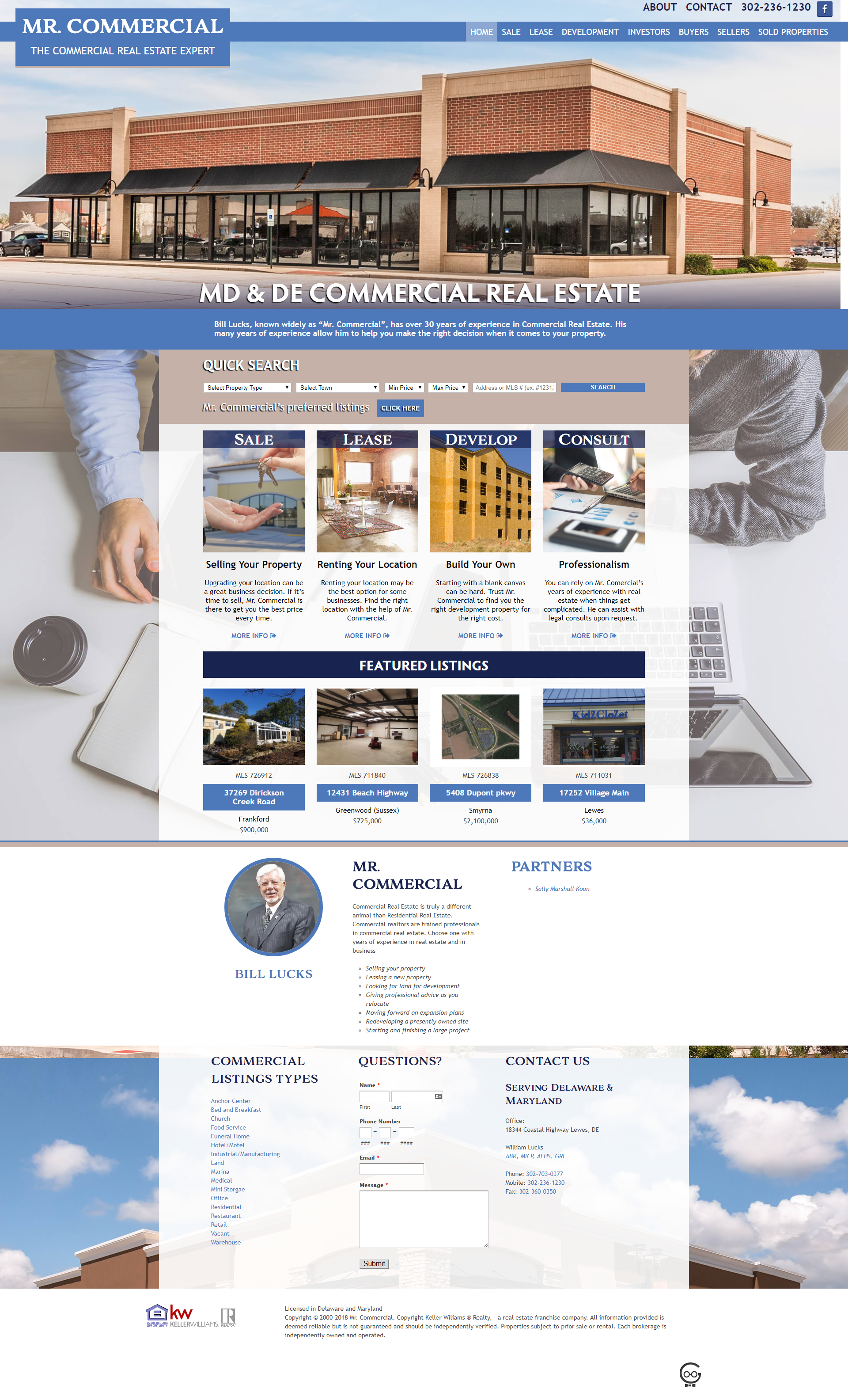 Mr. Commcerial Home page
