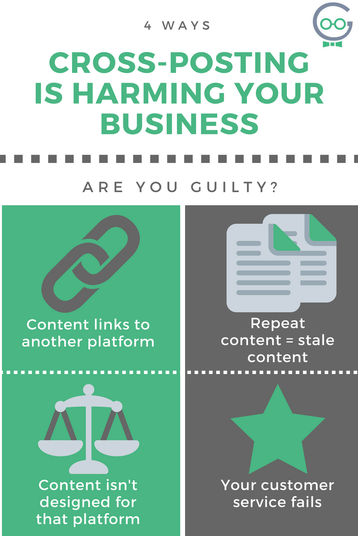 4 ways cross-posting harms your business