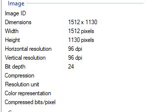 image properties