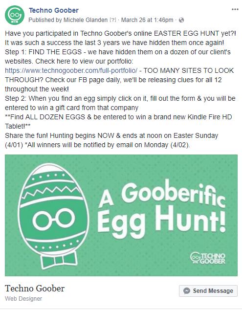 A Gooberific Egg Hunt