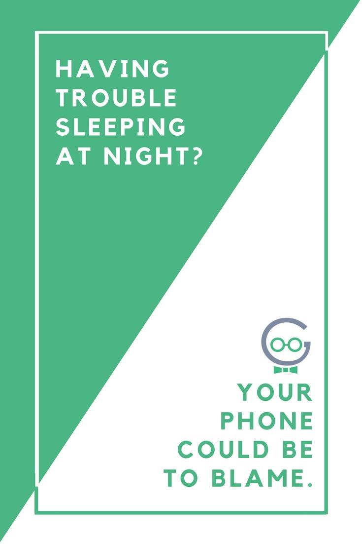 Having Trouble Sleeping at Night