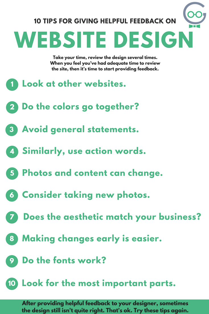10 Tips for Web Design Feedback