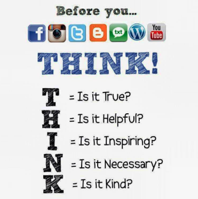 Before you post, THINK