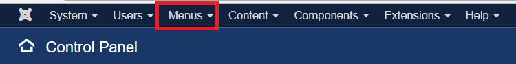 click menu
