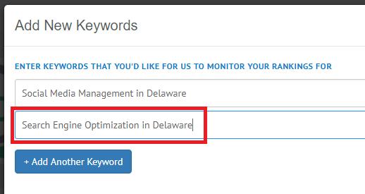 add second keyword