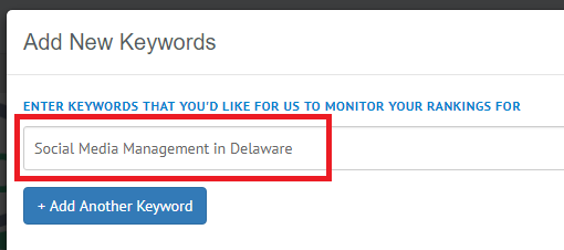 add first keyword